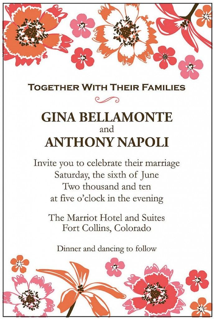 25 best ideas about wedding invitation message on for Wedding invitation wording for joining families