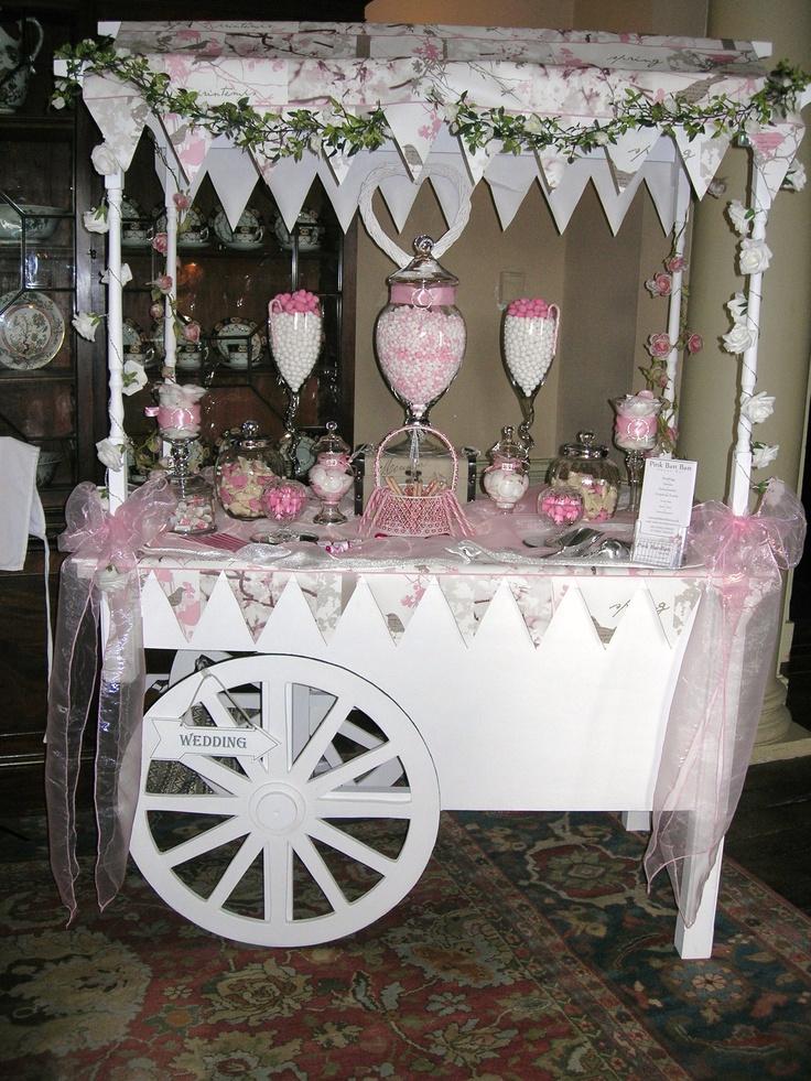 pink candy cart