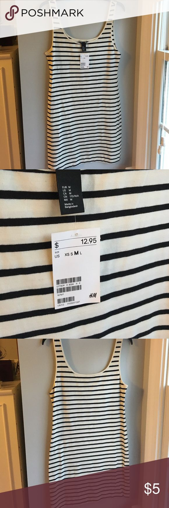 Striped Bodycon Dress Black and white striped Bodycon dress from H&M. NWT H&M Dresses Mini