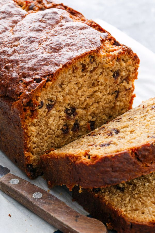 Chocolate Chip Peanut Butter Banana Bread | Recipe | Butter, Olive ...