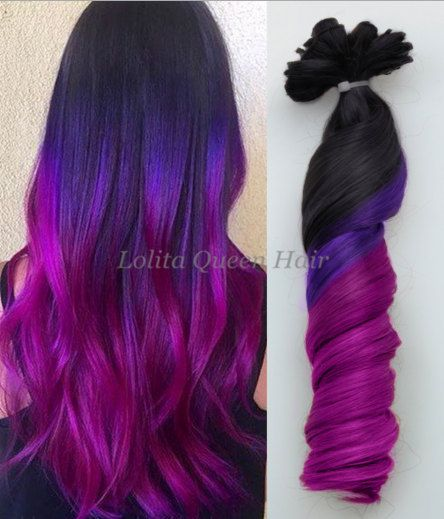 44 best 2016 ombre hair extensionsdiy dye mermaid human hair black to purple colorful ombre indian remy clip in hair extensionsbalayage extensionsdip pmusecretfo Gallery