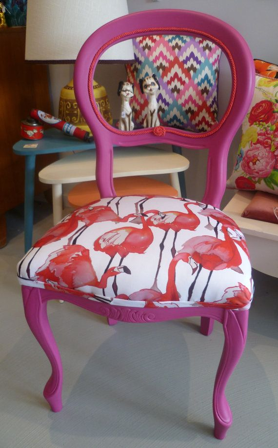 restored vintage french style chair by