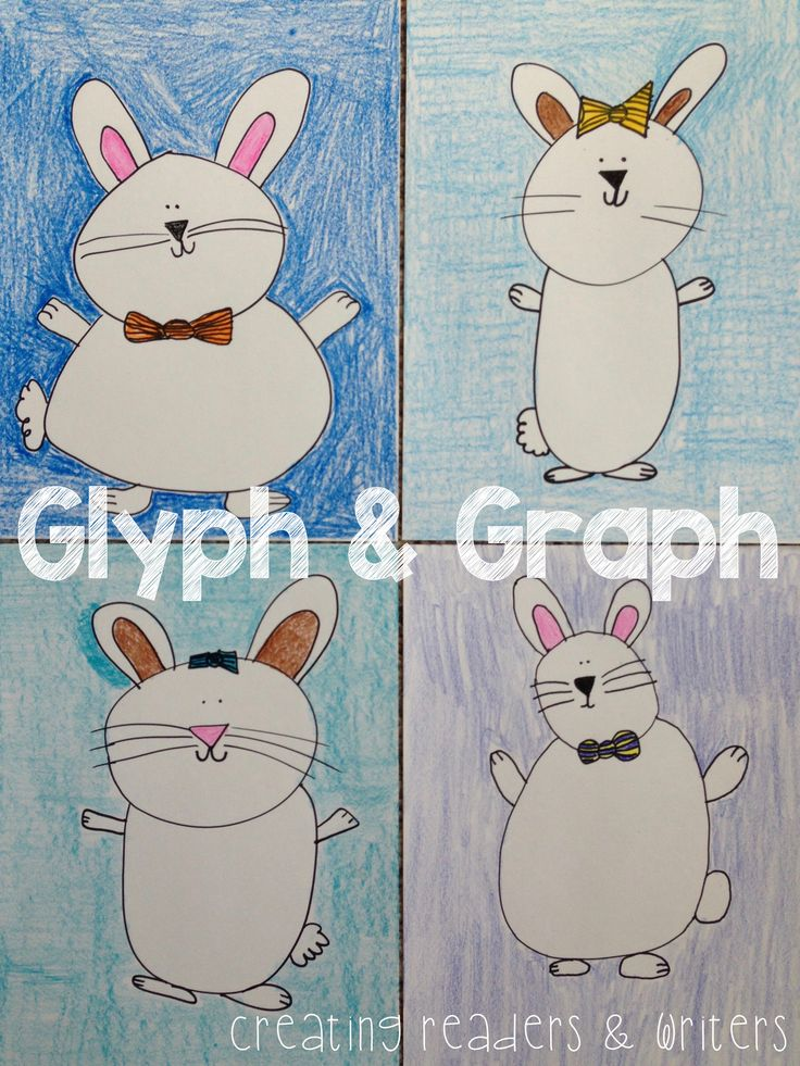 """This """"Funny Bunny"""" GLYPH & GRAPH activity is a great way to combine a little Easter fun with a math lesson on collecting, graphing, and analyzing data. $"""