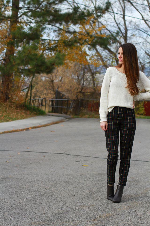DIY Plaid Pants / Trousers - FREE Sewing Tutorial