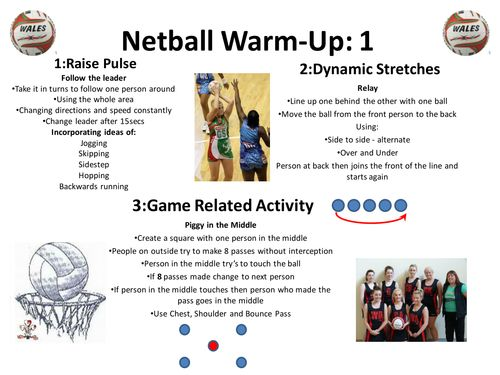 netball warm up cards