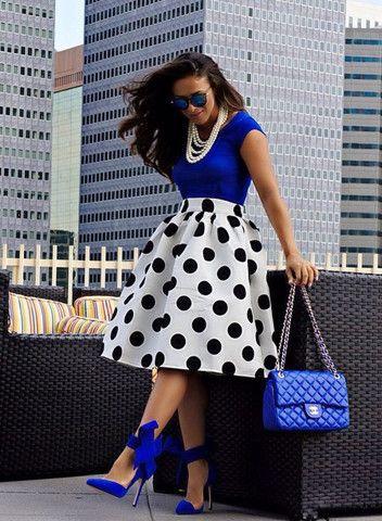 polka dot skirts, karriebradshaw.com