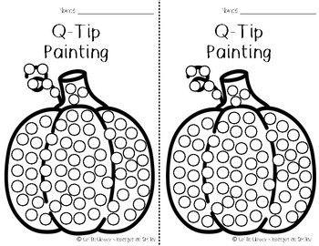 Pumpkin Q-tip Painting | Q tip painting, Q tip art, Autumn ...