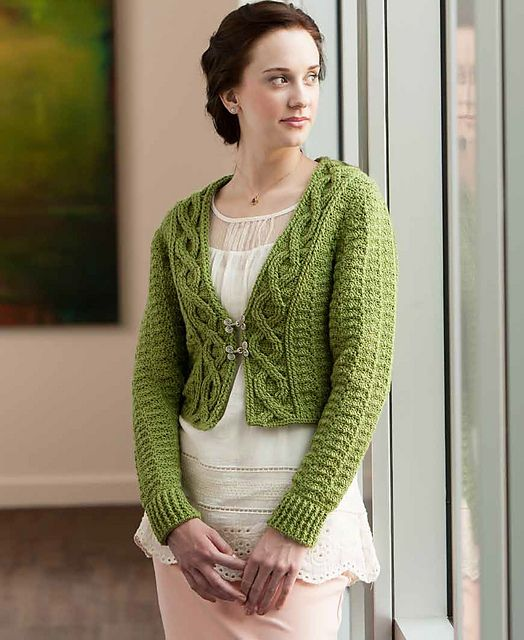 Crocheting A Sweater : Foliage Crochet Sweater Shrug, a #crochet pattern in Robyn Chachulas ...