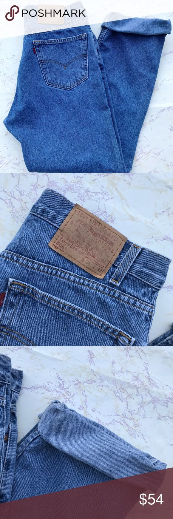Vintage Levi's 550 Mom Jeans Vintage Levi's 550 high waist mom jeans. Regular fit straight leg. Classic regular wash denim. Tag size 36x34. These are vintage so the waist measures smaller than the tag. The listing will reflect the true measurements. Waist 33. Inseam 34. Rise 12. Perfect for the fall. Dress them up or keep them casual. 100% cotton Levi's Jeans Straight Leg