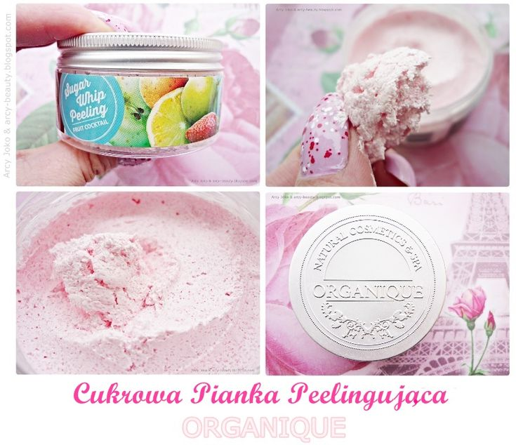 Organique Sugar Peeling Fruit Coctail Pink PL Organique Cukrowa Pianka Peelingująca Owocowy Koktajl Różowa #peeling #organique #pink #cosmetics