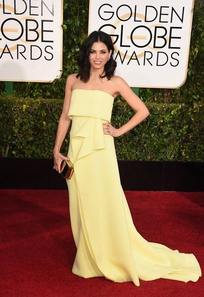 Jenna Dawan-Tatum in Carolina Herrera at the 2015 Golden Globes - The Most Daring Golden Globe Dresses - Photos