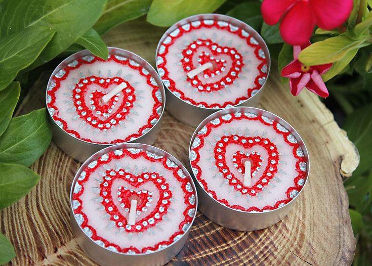 Heart Candles - Unscented henna tealights