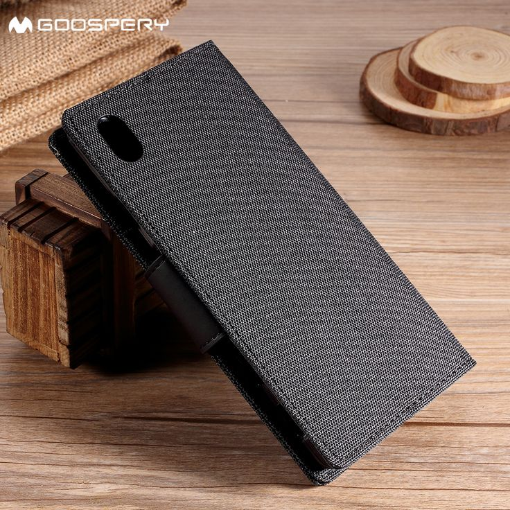 MERCURY GOOSPERY Canvas Wallet Leather Cover for Sony Xperia Z5 Z5 Dual Grey. Click visit to buy #WalletCase #Case