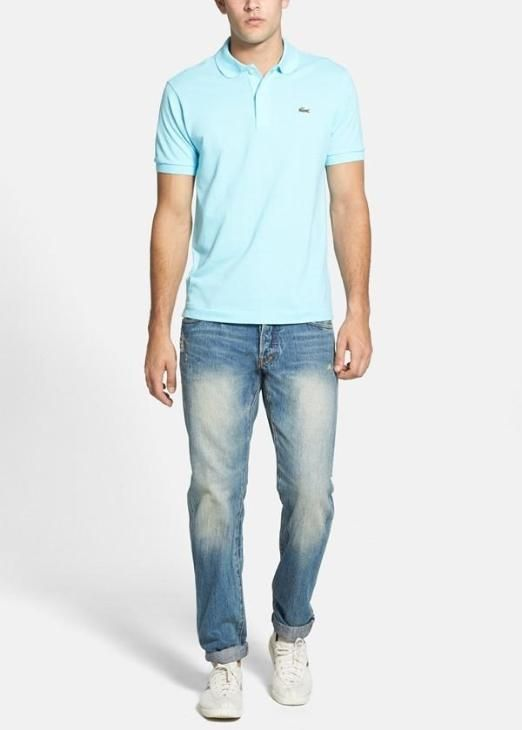 Casual gear for the weekend | Lacoste polo and straight leg jeans