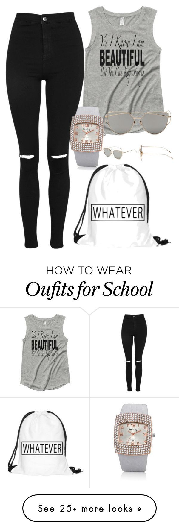 """Whatever I am late anyway watch black band"" by fab-life-939 on Polyvore featuring Topshop"