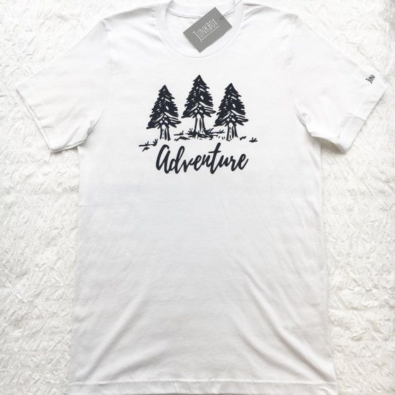 Adventure UNISEX slogan Tshirt typography logo by JunkboxCouture