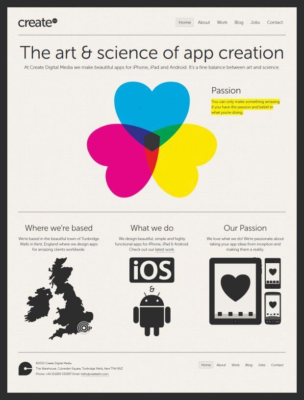Create Digital Media - Beautiful iPhone App Development - Best website, web design inspiration showcase