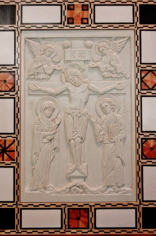 Christ Crucified. our Holy Mother and St John the Beloved Apostle  /   Here is a selection of Jonathan's work separated into different categories.  Roll-over images to read a brief description and click for larger images. All prices are in USD . Most projects are...