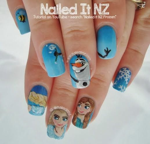 GUEST POST: Jessie from Nailed It NZ (Kelsie's Nail Files) - Best 25+ Disney Frozen Nails Ideas On Pinterest Olaf Nails