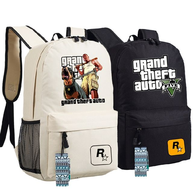 Good price High Quality 2017 New Game Grand Theft Auto GTA5 Unisex Printing Canvas Fashion Backpack School Bags for Teenagers just only $20.69 with free shipping worldwide  #backpacksformen Plese click on picture to see our special price for you