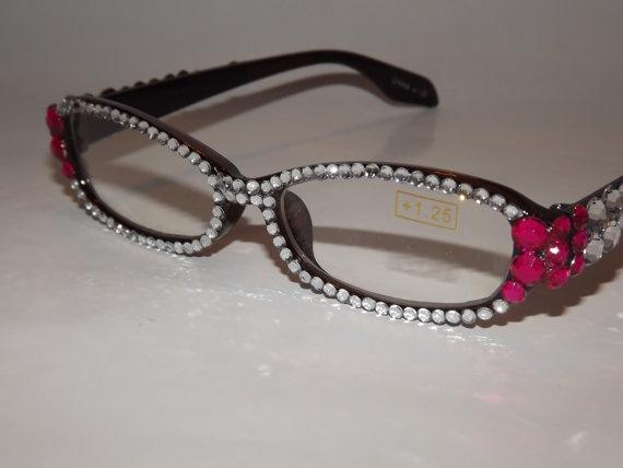 ea0f087d78e Rhinestone Bling Reading Glasses by EVRhinestones on Etsy