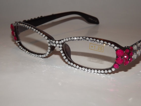 Image result for rhinestone reading glasses