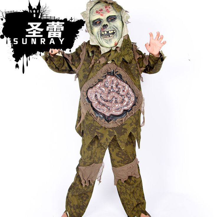 new halloween duchang strange ghost scary costumes boysgirls zombies children cosplay costume shirtpantmask 3pcs set scary halloween costumes for boys - Scary Halloween Costumes For Children