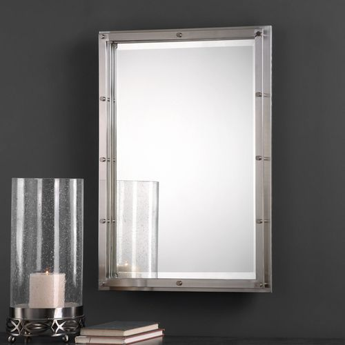 Manning Brushed Nickel Mirror