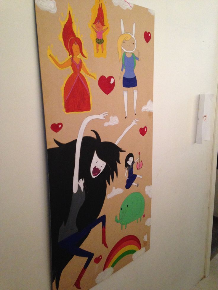 Adventure Time scene I painted :-)