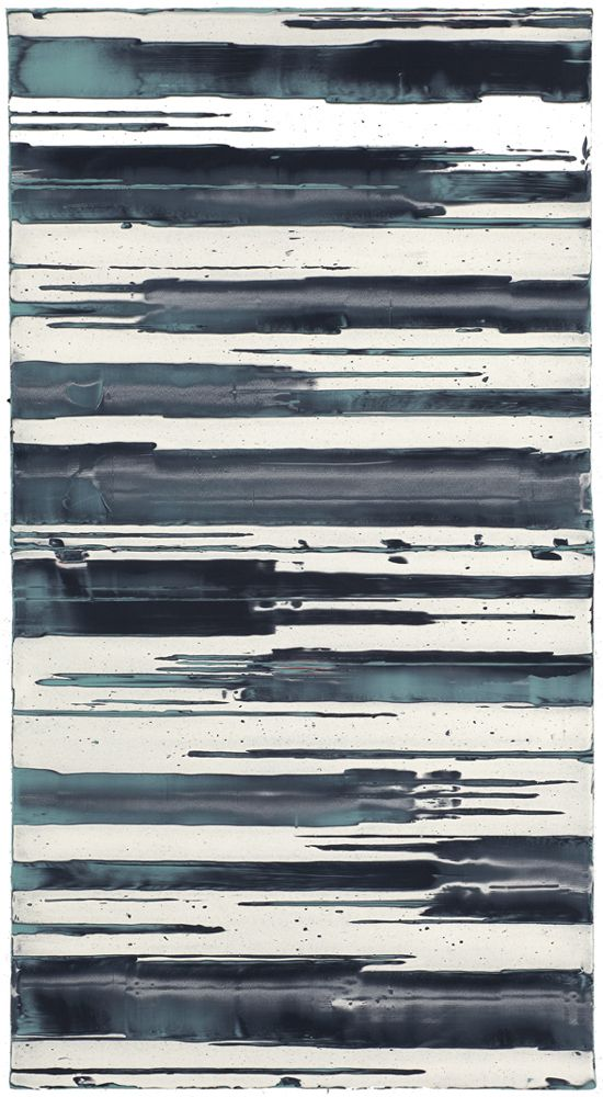 Mark Harrington - Untitled (Turquoise/black/white) | From a unique collection of paintings at http://www.1stdibs.com/art/paintings/