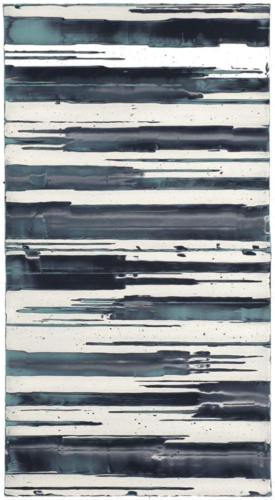 Mark Harrington, Untitled (Turquoise/black/white), 2010