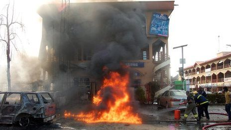 Deadly blast rocks Nigerian capital. An explosion hits a busy shopping centre in Nigeria's capital, Abuja, and there are reports of casualties. June 2014 bbc.com