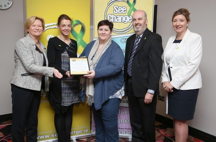 Eileen Dunne, Laurence Van Der Haegen & Christine Lodge (Ballymun Regional Youth Resource), John Saunders and Mary Rose Burke (IBEC)