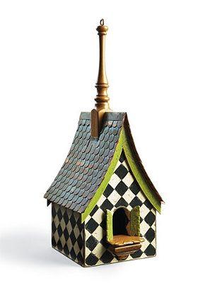 Garden accessory: designer birdhouses