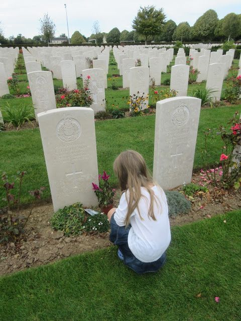 War Cemetary and The D Day Landing Beaches of  Normandy France