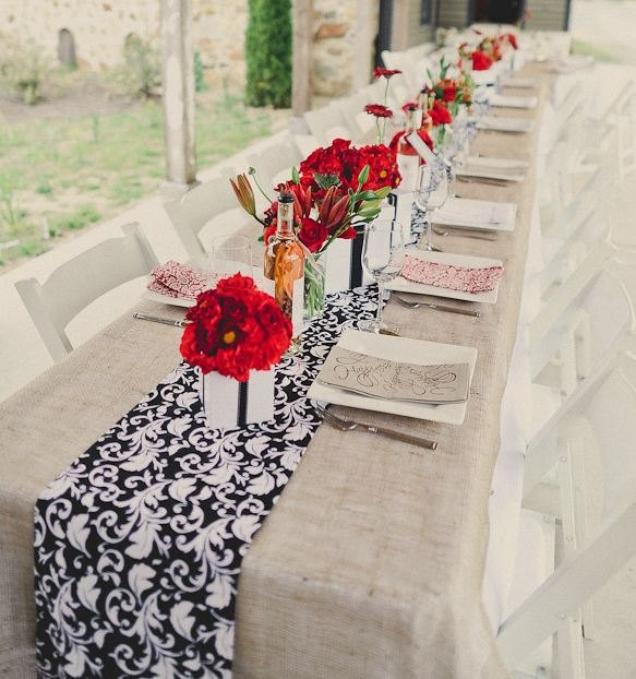 black white and red table settings | My Web Value