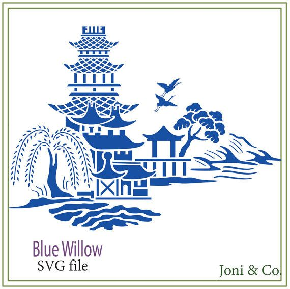 Blue Willow SVG, Asian Digital Glass Block Design, SVG cutting file, Cricut, Sale- 25% off purchase of 12 dollars or more. Use: SVGSALE