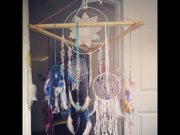 Dream catchers amazing designs all designed with assorted Crystals.. Handmade action
