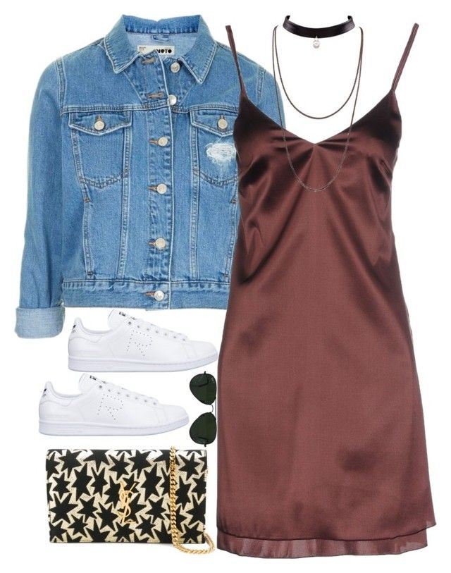 """""""Untitled #2041"""" by roxy-camarena on Polyvore featuring Topshop, Carla G., adidas, Yves Saint Laurent and Ray-Ban"""