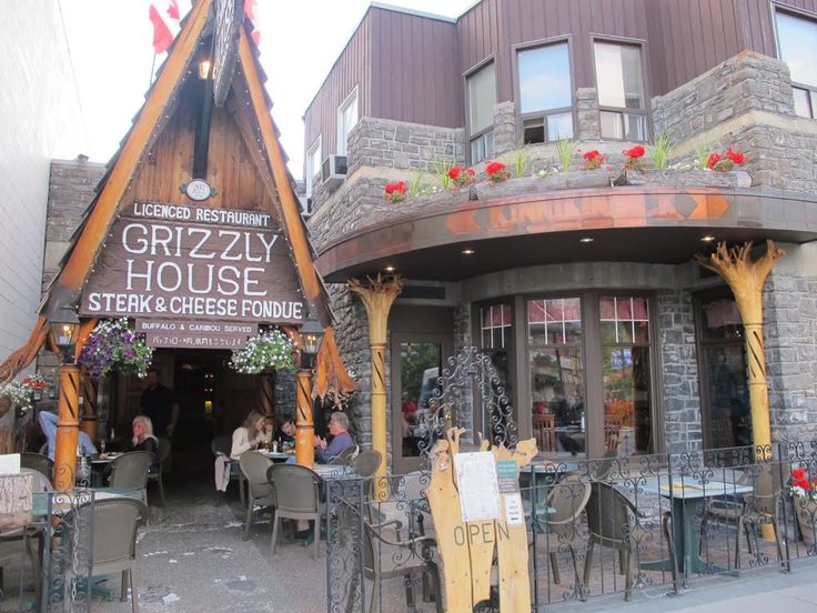 Grizzly house, Banff, Canada we've walked by it, but never gone in.