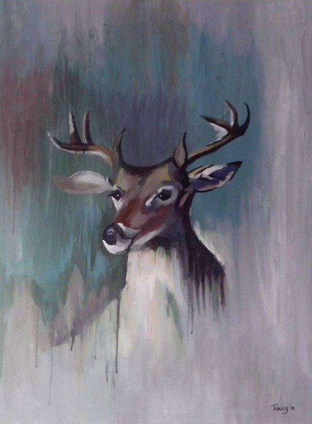 Deer painting in acryl