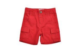 Bermuda en color rojo para bebe niño. Bolsillos a los lados.