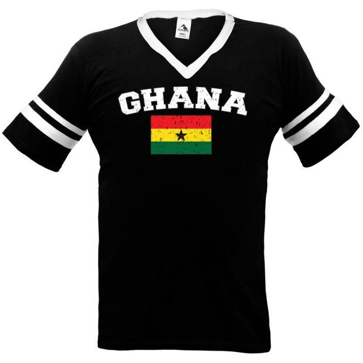 GHANA Flag International Soccer T-shirt Team Africa #Unbranded #TShirt