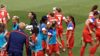 When you and your bestie are about to go out and you're lookin' good | 20 USWNT GIFs That Are Perfect For Any Situation
