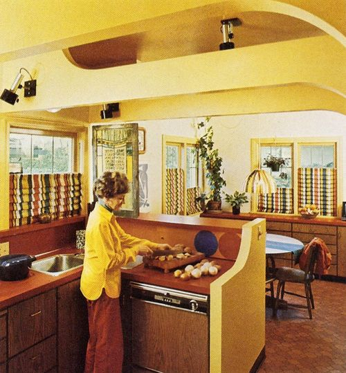 181 best images about decor in the 1970s on pinterest for Retro kitchen ideas 1970