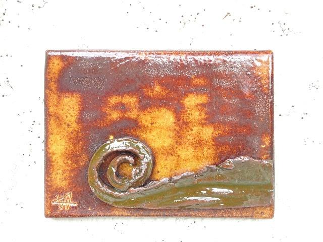 AROBE CERÁMICA, camaleón tímido, gres esmaltado