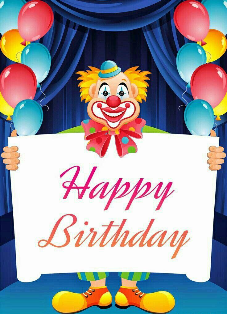 Best 25 Happy birthday clown ideas – Clown Birthday Cards