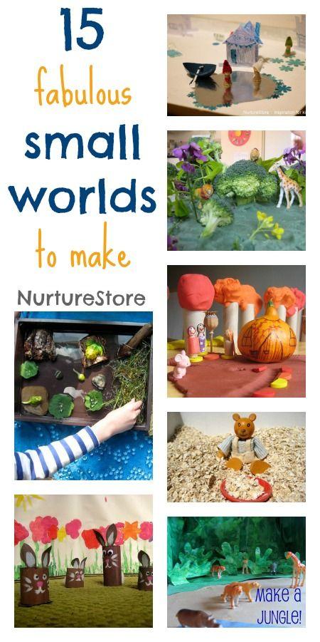 15 fabulous small world ideas - imaginary play lands