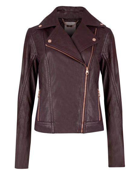 Leather biker jacket // in the perfect color for Fall