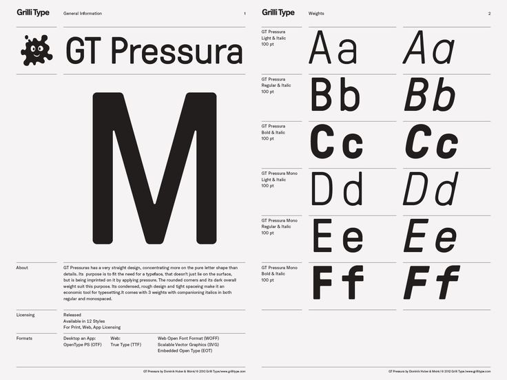 GT Pressura – Grilli Type – Independent Swiss Type Foundry – Free